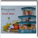 Rubbermaid Premier 30 Piece Teal Easy Find Lids Food Storage Set