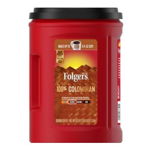 Folgers Colombian Coffee Ground 35 oz, 305 Cups