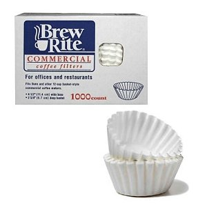 Brew Rite Commercial Paper Coffee Filters 1000 ct
