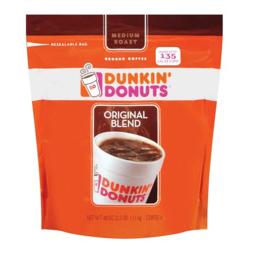 Dunkin Donuts Original Blend Coffee 2.5 Lb Ground - Click Image to Close
