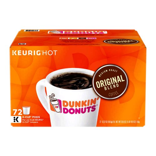 Dunkin Donuts Original Blend K Cups 72 Ct - Click Image to Close