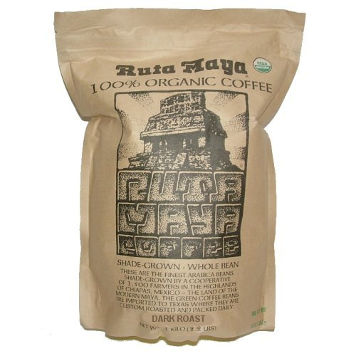Ruta Maya Organic Whole Bean Coffee Dark Roast 2.2 lbs - Click Image to Close