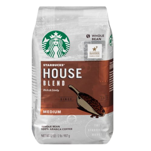 Starbucks House Blend Whole Bean - 32 oz. - Click Image to Close