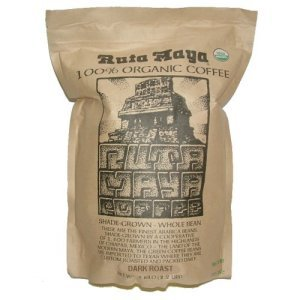 Ruta Maya Organic Whole Bean Coffee Dark Roast 2.2 lbs